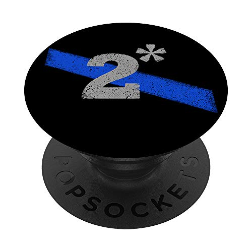 Two Asterisk K9 Police Officer Thin Blue Line PopSockets Grip and Stand for Phones and Tablets
