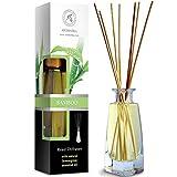 Difusor de Bambú con Aceite Esencial 100ml - 100% Puro & Natural - Set con 8 Varillas de Bambú - Humidificador - Ambientador de Bambú - Hogares - Oficinas - Boutiques - Restaurantes Aromaterapia