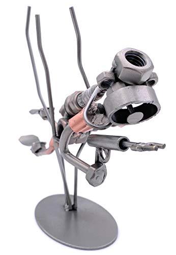 Boystoys HK Design - Schraubenmännchen Taucher Harpune - Metall Art Geschenkideen Deko Skulptur Sport & Freizeit - hochwertige Original Figuren handgefertigt