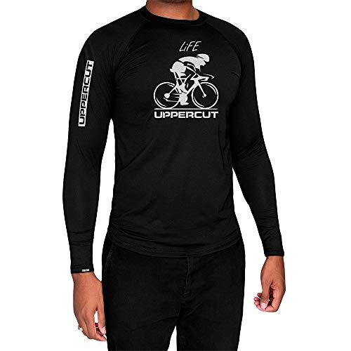 Uppercut Camisa Ciclismo Térmica Proteção Solar, M, Preta