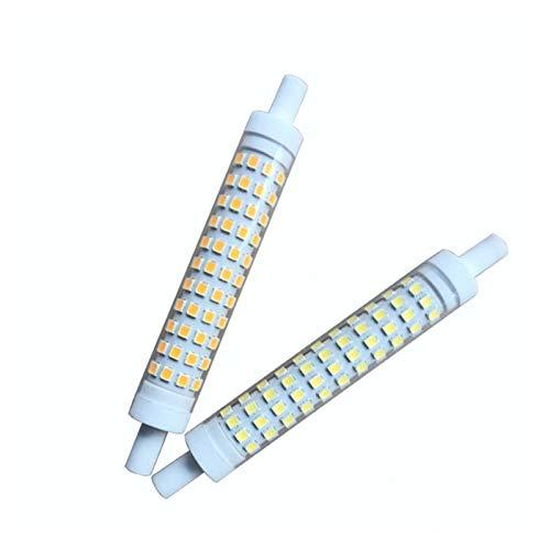 JCMY Bombillas GE 2pcs 10W LED Timulación De Cerámica R7S 230V 15 * 118mm 10W R7S Lámpara Horizontal iluminación LED (Size : Warm Light)