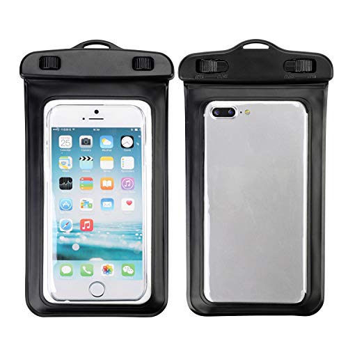 Funda impermeable universal para iPhone X XR XS 8 7 6s 6 Plus Samsung S9 S8 Huawei P20 Mate20 Pro, Negro