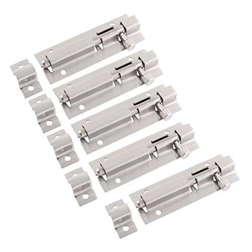 5 Stück Edelstahl Verschluss Schiebetür Tür Tür Schrankschloss Schrauben 7,5 cm