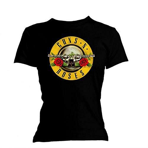 T-Shirt # L Black Femmina # Classic Bullet Logo