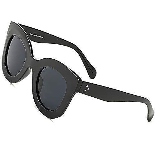 SHEEN KELLY Vintage Fett gedruckt Retro Oval Mod Dicker Rahmen Sonnenbrillen Runde Lens Clout Brille Cat eye schildkröte farbe Katzenaugen