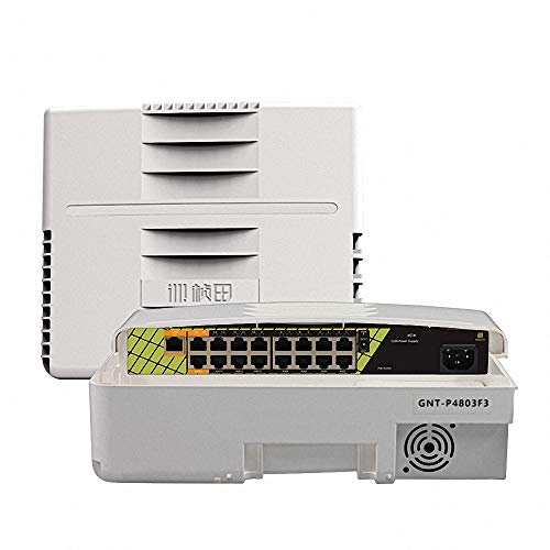 ETS Commercial Harsh Weather Waterproof Outdoor unmanaged PoE 60W Gigabit Switch 16 Port with 1 SFP Smart PoE Watchdog