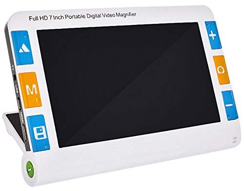 7 grande pulgadas Lupa de video digital con poca visión Ayuda para la lectura Lupa de lectura electrónica con 2X-32X veces Zoom 26 modos de color