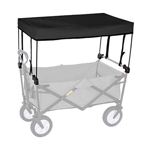 GWXTC Faltbarer Bollerwagen Folding Outdoor-Hand Push tragbare Trolley Cart Zubehör - Markise Baldachin (Color : Black)
