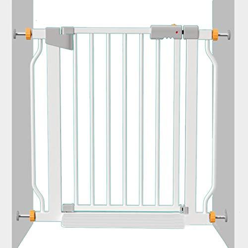Puerta de Seguridad Barreras para Puertas y escaleras For Niños Barandilla De Escalera Barandilla De Protección Invisible For El Hogar, Perforación Libre (Color : Blanco, Size : 76 * 78cm)