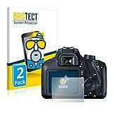 BROTECT Protector Pantalla Anti-Reflejos Compatible con Canon EOS 4000D (2 Unidades) Película Mate Anti-Huellas