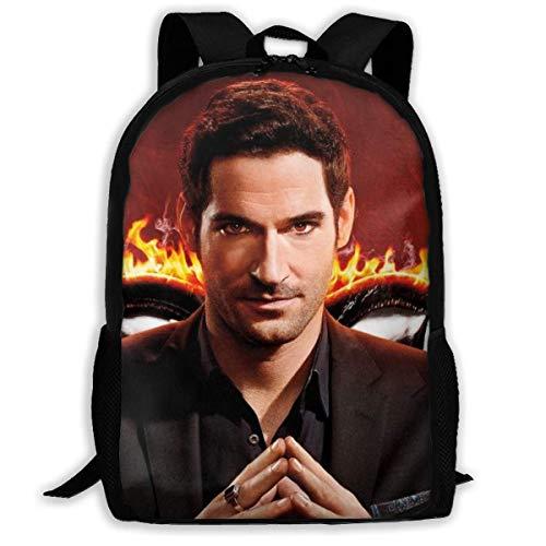 shenguang Lucifer Adult Travel Backpack Fits 15.6 Inch Laptop Backpacks School College Bag Casual Rucksack for Men & Women