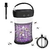 XIAOLINGTONG Lámpara Asesina De Mosquitos Energía Solar/USB Luz Asesina De Moscas Eléctrica Impermeable Recargable Bug Zapper con Lámpara De Camping para Interiores
