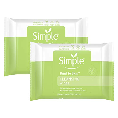 Simple Simple Cleansing Facial Wipes, 25 Each