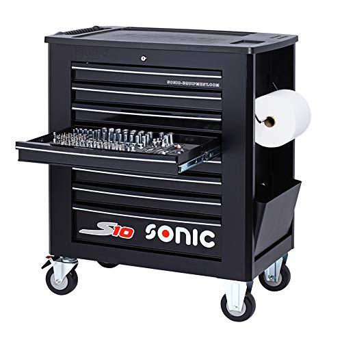 Sonic Equipment Werkstattwagen S10 gefüllt 391 Teile schwarz