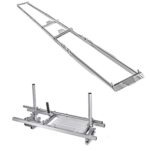 """SHZOND 14""""-36"""" Chainsaw Mill and Milling Rail System Aluminum Steel Rail Mill Guide System (Rail Mill Guide System)"""