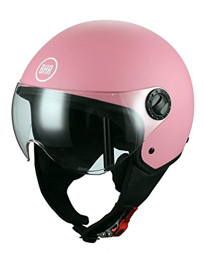 BHR 33128 - Casco Demi-Jet, color rosa mate, talla M (57/58 cm)