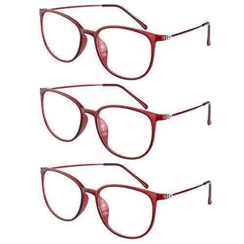 3-pack leesbril voor computer multifocus Progressief blokkeert UV-lasers, visuele bril, anti-glare eye strain ultralight voor mannen en vrouwen