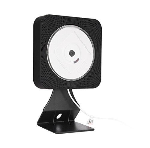 VBESTLIFE Lettore DVD portatile Bluetooth lettore CD, nuovo da parete, lettore CD, altoparlante HiFi integrato con telecomando (nero)