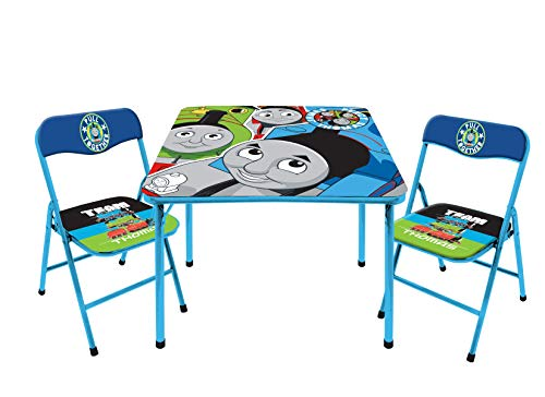 Nickelodeon Thomas & Friends 3 Piece Foldable Table and Chair Set, Ages 3+, Blue