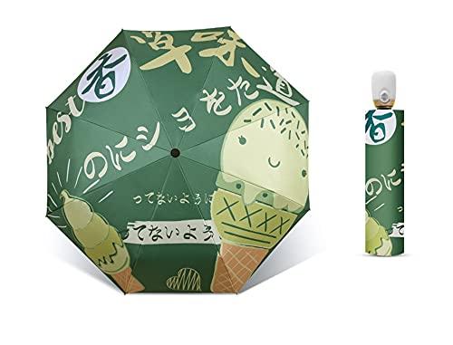 KHAILIUB Sombrilla Paraguas Plegables automáticos para Hombres Revestimiento Negro parasoles Lluvia Mujer sombrilla Anti-URO Parasol Viaje Soleado/parapluye lluvioso (Farbe : D)