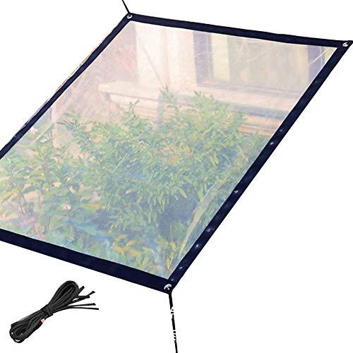 PENGFEI Bâche De Protection Transparent Jardinage Imperméable Joint De Fenêtre Résistant Au Froid Renfort De Bord, Polyéthylène, 5 Tailles (Couleur : Clair, taille : 4x2m)