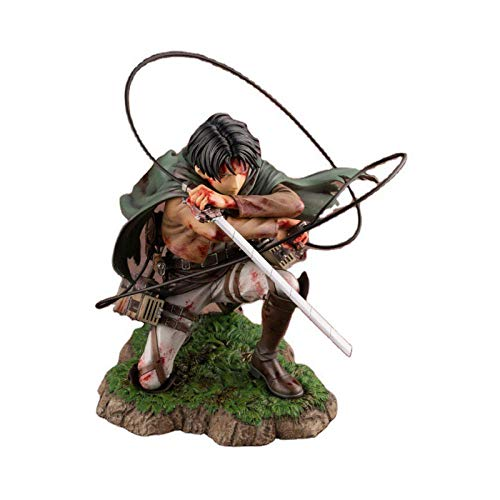 HJUNH 18cm Attack on Titan Figure Rival Ackerman Action Figure Package Ver. Levi PVC Action Figure Rivaille Collection Model Toys