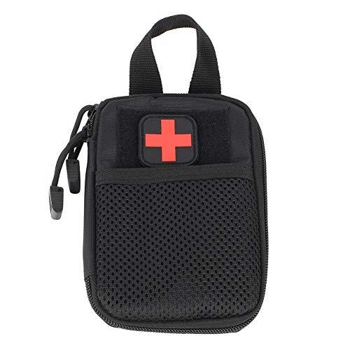 Taktische Medizinische Tasche Molle Erste Hilfe Tasche Medizinische Notfalltasche Multifunktions Hüfttasche für Outdoor Reisen Camping Wandern(schwarz)