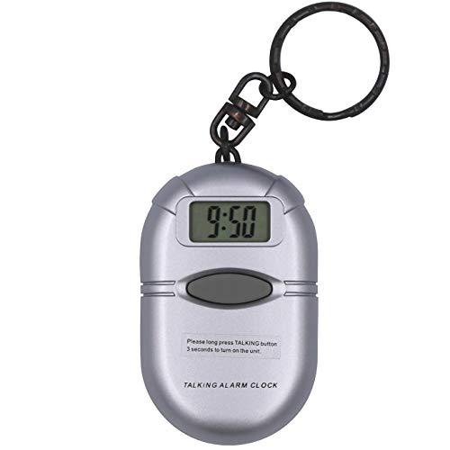 キーホルダー型音声時計(時報・アラーム・スヌーズ機能付き)