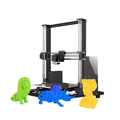 Aibecy-Anet A8 Plus DIY impresora 3D mejora alta precisión automontaje 300 * 300 * 350 mm gran tamaño de impresión aleación de aluminio marco móvil LCD panel de control Überstromschutz placa base