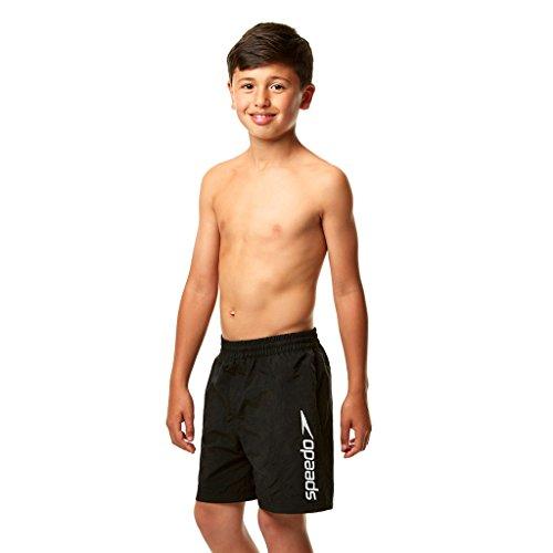 Speedo Jungen Challenge de 15 Zoll Wassershorts, Schwarz, L