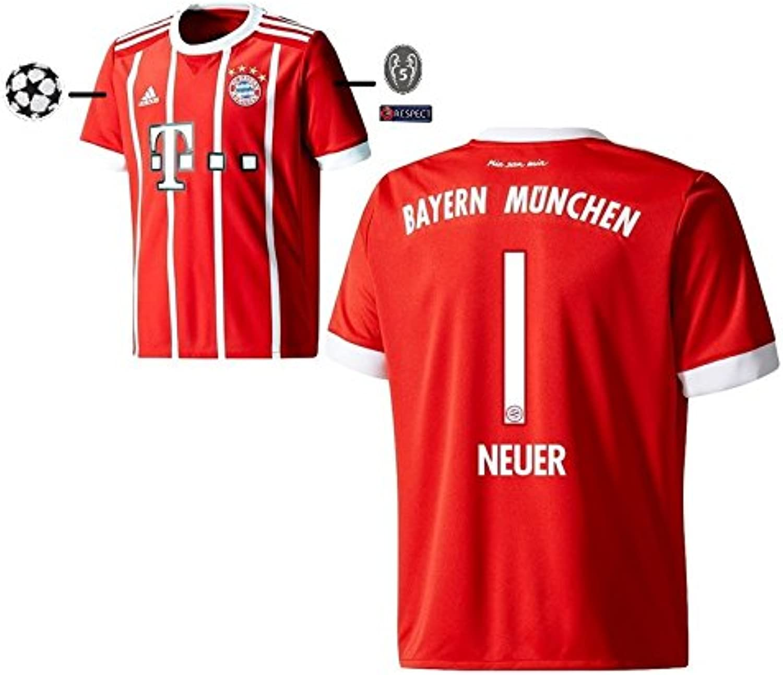 Trikot Herren FC Bayern 2017-2018 Home UCL - Neuer Neuer Neuer 1 B075MJ462F  Neue Sorten werden eingeführt fc4199