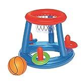 fancheng Jouets de Piscine pour Enfants 8-10 - Cerceau de Basket-Ball de Piscine pour Enfants Gonflable Ballon Gonflable Natation Dété - Jouet de Jeu de Sports Nautiques pour Adolescents Et Adultes