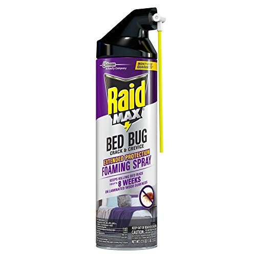 Raid Max Bed Bug Crack & Crevice Extended Protection Foaming Spray, Kills Bed Bugs for up to 8 weeks*, 17.5 Oz
