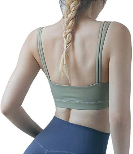 Nieuwe yoga sportbeha vrouwelijke dubbele dunne schouderband kleine sling fitnessvest Mooie rugsportondergoed