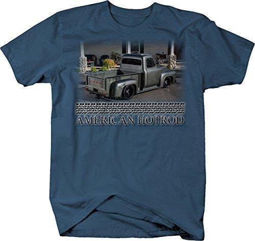 Bold Imprints American Hotrod Racing F1 F100 Truck Restored New Classic T Shirt for Men 3XL Denim Blue