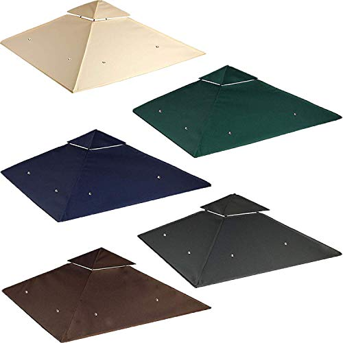 freigarten.de Ersatzdach für Pavillon 334 cm x 334 cm Sand Antik Pavillon Wasserdicht Material: Panama PCV Soft 370g/m² extra stark Modell 10 (Beige)