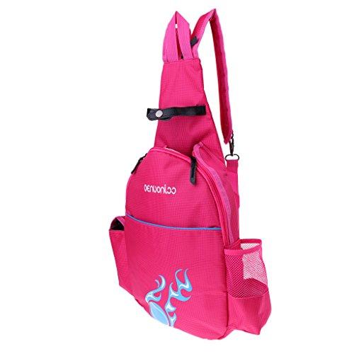 Homyl wasserdichte Sport Rucksack Reise Wandern Camping Badminton Tasche Schlägertasche Tennisrucksack für Damen Herrren Jungen Mädchen - Rose Rot