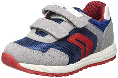 Geox Baby-Jungen B ALBEN Boy D Sneaker, Grey/AVIO, 25 EU