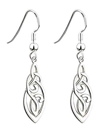 Biddy Murphy Trinity Knot Earrings Celtic Knot Sterling Silver Made in Ireland