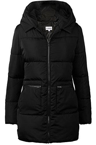 iloveSIA Women#039s Winter Puffer Coats Down Alternative Puffer Jacket with Hood Black Size 08