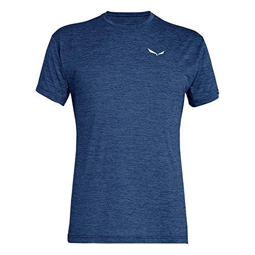 Salewa Herren PUEZ Dry M S/S Tee Blusen & T-Shirts, Dark Denim Melange, 48/M