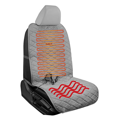 Sojoy Comfort Seat Cushion for Home,Office with Heating, 45' Timer and Hi/Mid/Low Temperature Switch(Gray)