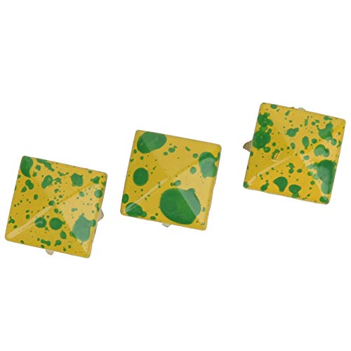 HEEPDD 200 Piezas de Remaches de Cuero, Pernos de Punta Cuadrada de 10 mm DIY Remaches de Cuero de Cuero Bolsa de Ropa de Cuero Bolsa de Zapatos Decorativos Remache(Amarillo)