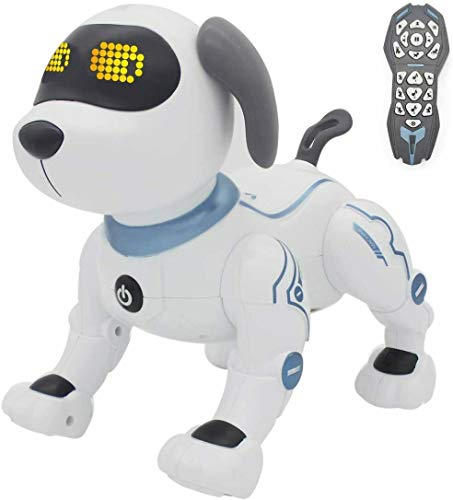 Yangers Remote Voice Control Intelligent Interactive Dancing Singing Dog Toys for Kids, Smart Electronic Programmable Robot Voice Controlled Actions Walking Sitting Funny Puppy Gift for Children