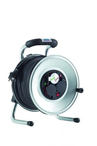 Preisvergleich Produktbild HEDI G1S25NTF Geräte-Kabeltrommel,  250 V,  Silber,  schwarz