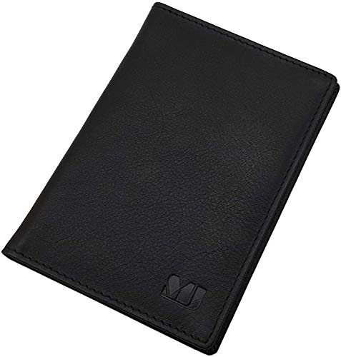 Vacchetta-nappa porta carte d'identità e carte di credito MJ-Design-Germany in nero
