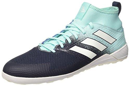 adidas Ace Tango 17.3 Indoor, Scarpe Da Calcetto Lisce Sala Allenamento Calcio Uomo, Multicolore (Energy Aqua /Ftwr White/Legend Ink), 44 Eur