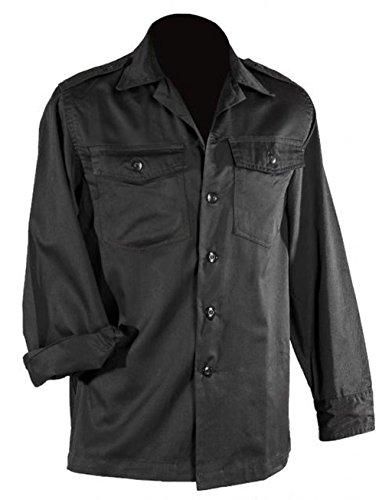 A. Blöchel US Army hochwertiges langärmliges oder kurzärmliges Hemd Größe S-XXXXXL Übergröße Farbe Schwarz oder Khaki (XXL, Langarm Schwarz)