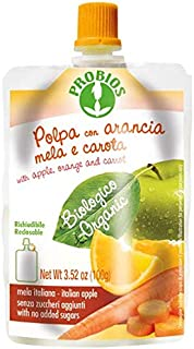 Probios Organic Orange Apple and Carrot Doypack, 100g - Pack of 1