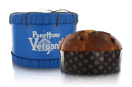Vergani Panettone Excellence in Scatola a Cilindro Blu, ricetta Tradizionale milanese - 1kg